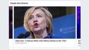 fake news hillary clinton
